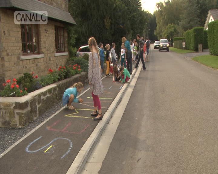 Des trottoirs inaugurés et coloriés