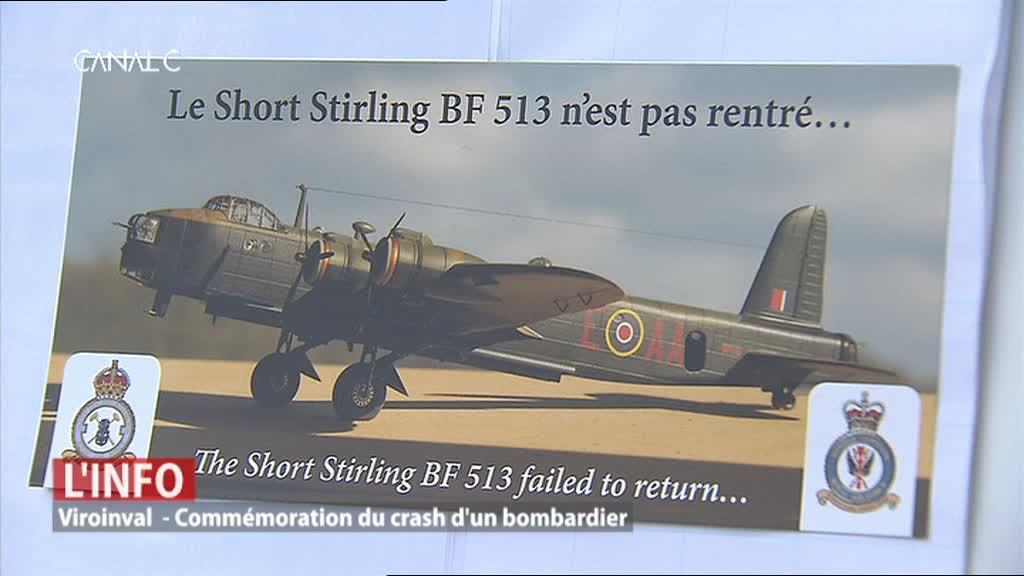Viroinval - Commémoration du crash d'un bombardier