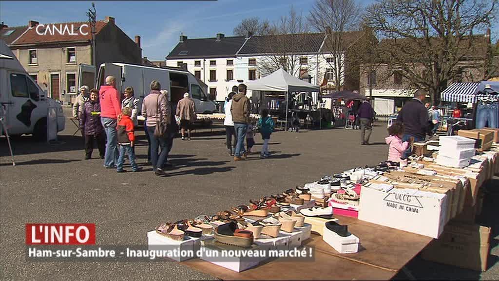 Ham-sur-Sambre: Inauguration d'un nouveau marché!