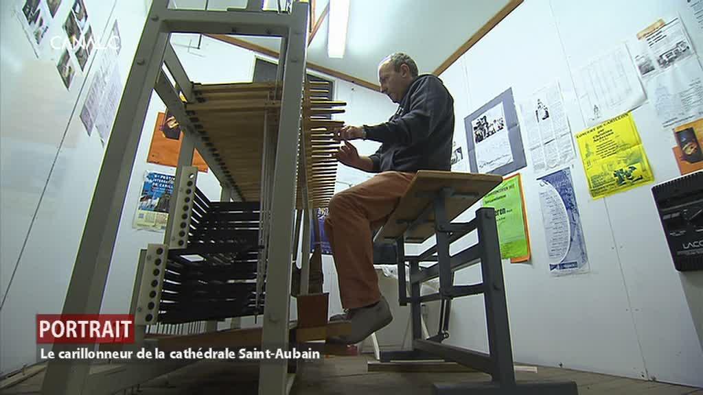 Portrait du carillonneur de la cathédrale Saint-Aubain