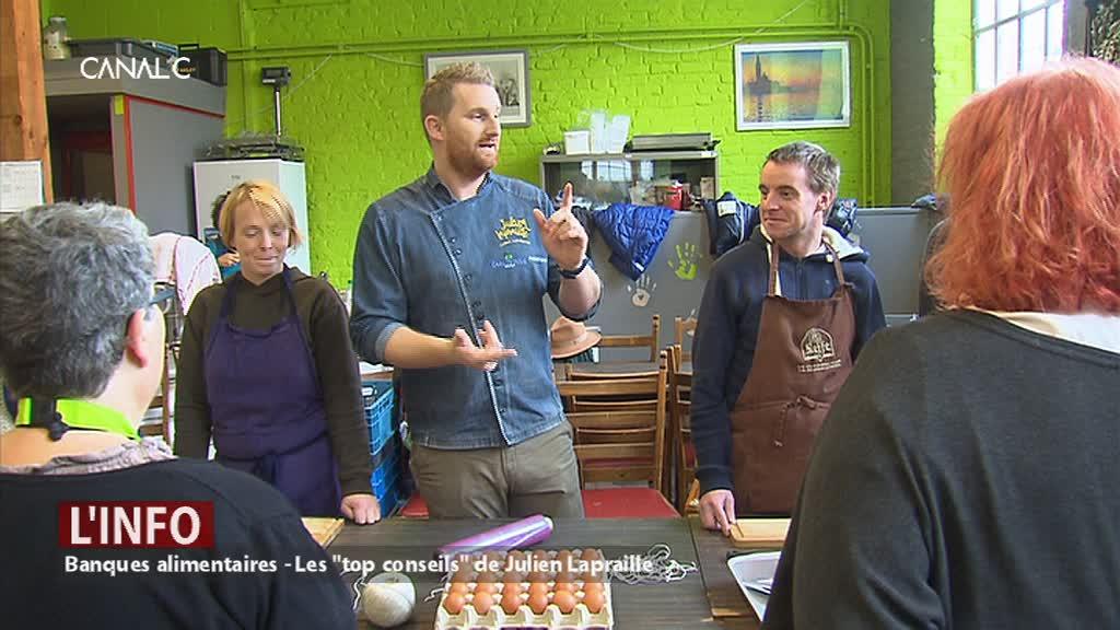 """Des """"top conseils"""" de Julien Lapraille pour les bénéficiaires des banques alimentaires"""