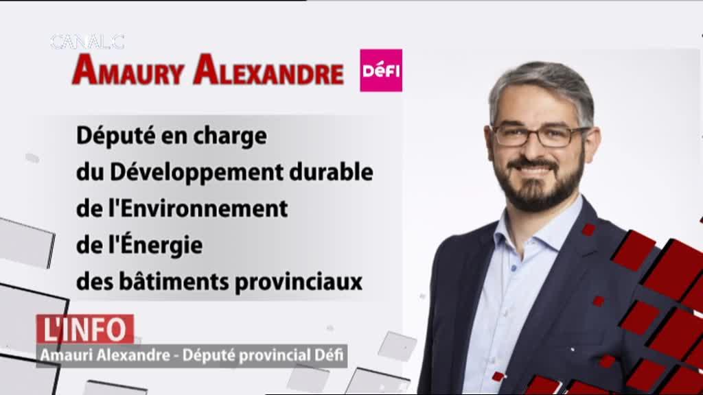 Amaury Alexandre, député provincial Défi