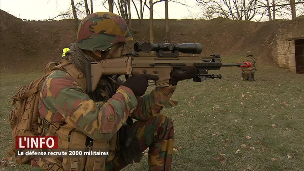 La défense recrute 2000 militaires
