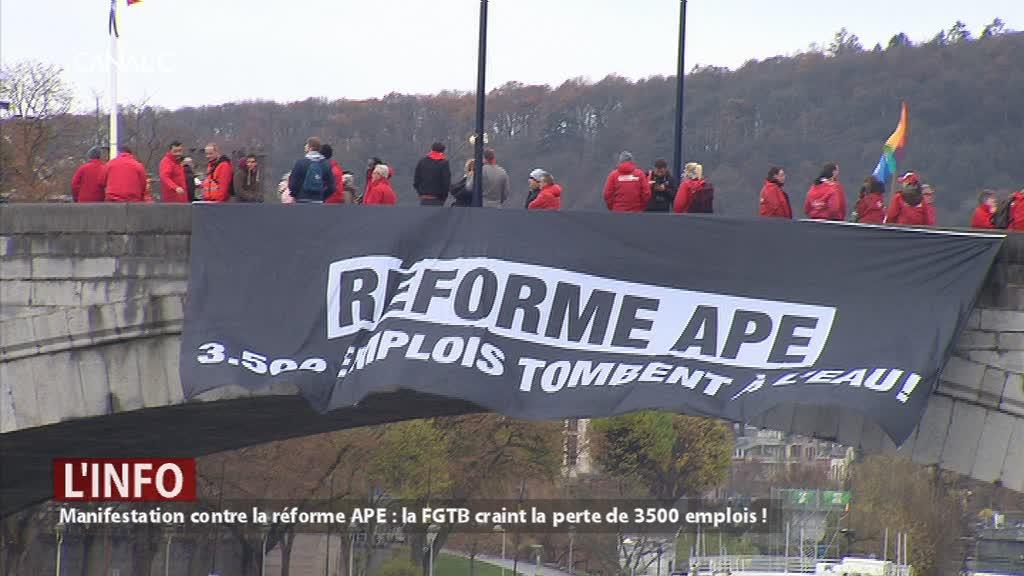 Manifestation contre la réforme APE : la FGTB craint la perte de 3500 emplois !