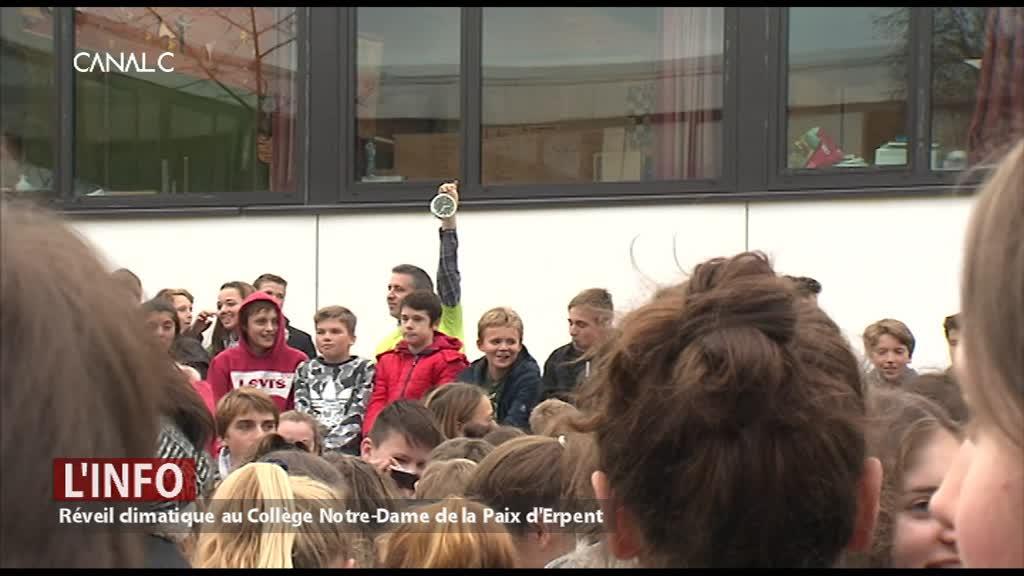 1000 élèves se réveillent pour le climat