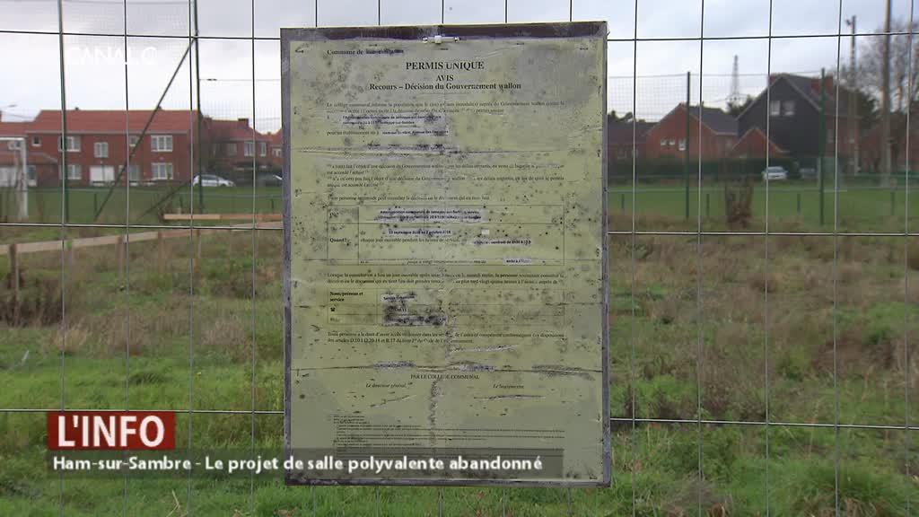 Le projet de salle polyvalente à Ham-sur-Sambre abandonné