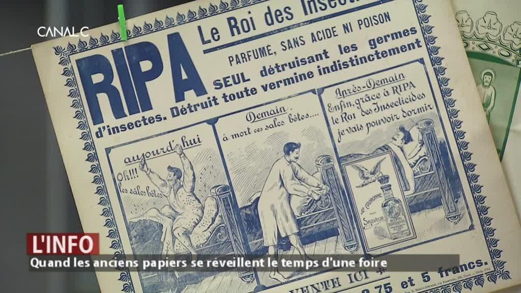 Quand les anciens papiers se réveillent lors de la Foire du livre et papier de collection de Namur