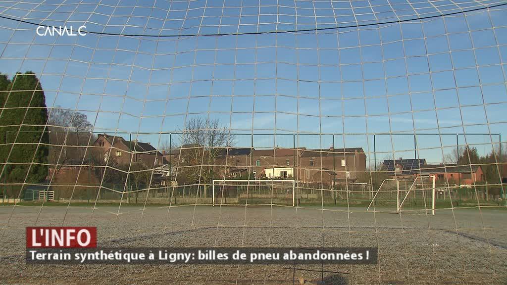 Futur terrain synthétique à Ligny : du liège au nom du principe de précaution !