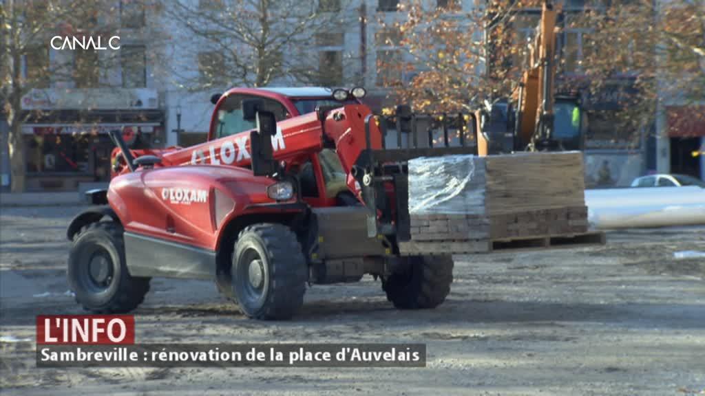 Sambreville : la rénovation de la place d'Auvelais finalisée en février