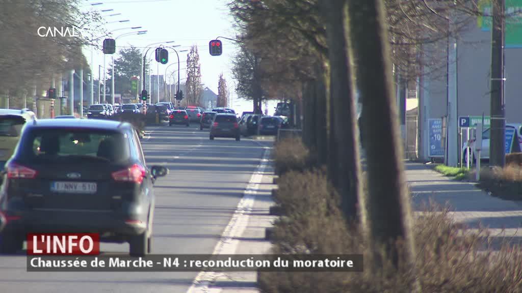 Chaussée de Marche - N4 : le reconduction du moratoire sur les commerces !