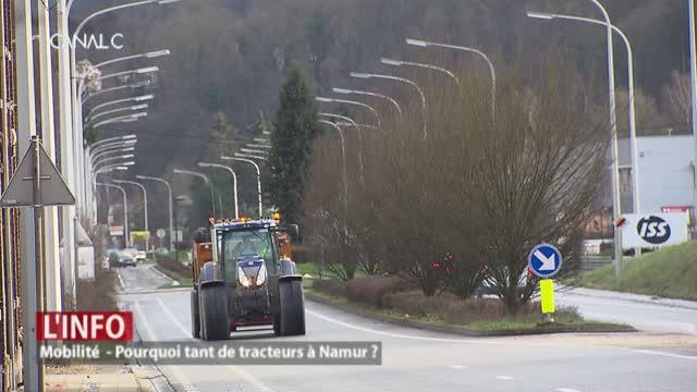 Namur: pourquoi tant de tracteurs en ville ?