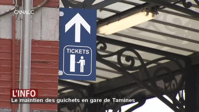 Samberville : le maintien des guichets en gare de Tamines