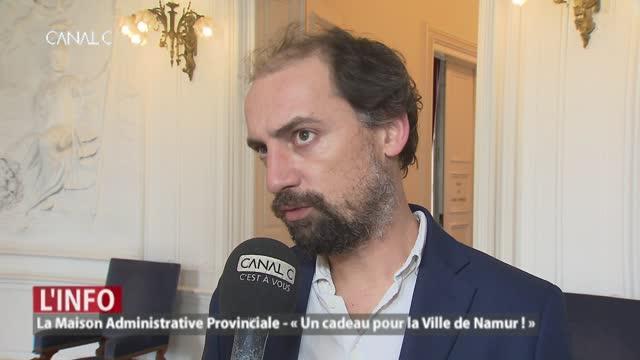 La maison administrative provinciale : « un cadeau pour la ville de Namur ! »