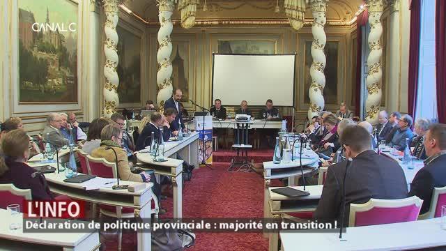 Déclaration de politique provinciale : la majorité en mode transition !