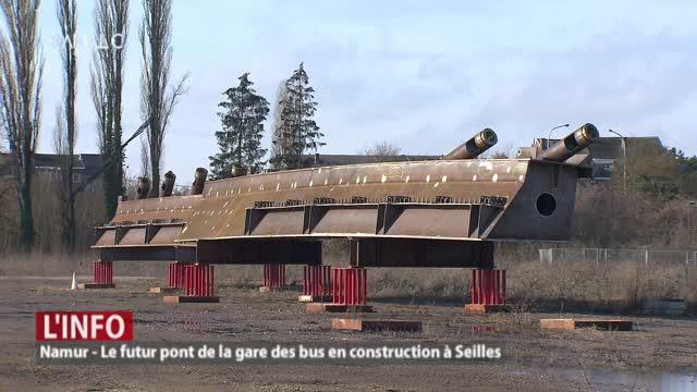Le futur pont de la gare des bus en construction à Seilles