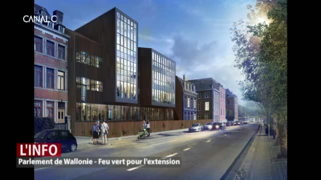 Premier feu vert pour l'extension du Parlement de Wallonie