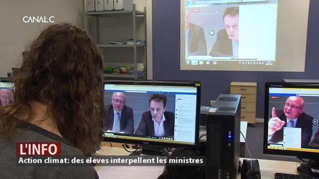 FaceBook Live sur le climat : quand les jeunes interpellent des ministres wallons.