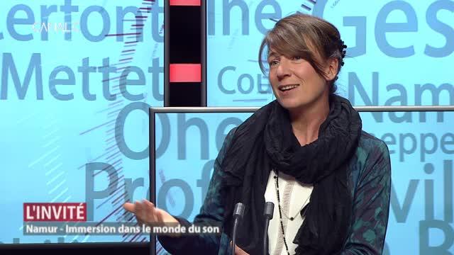 Notre invitée: Marie-Aline Fauville, responsable du service culture de l'UNamur