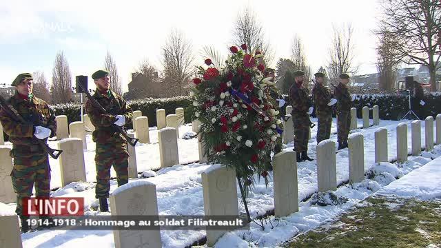 Hommage au soldat Filiatreault, un québecois mort il y a 100 ans à Namur