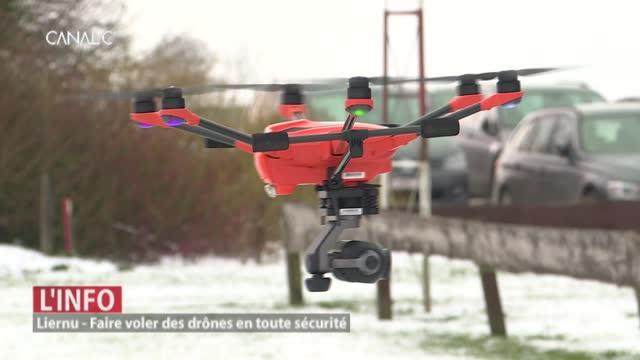 Une zone test pour les drones professionnels à Liernu