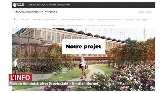 Un site internet sur la Maison Administrative Provinciale