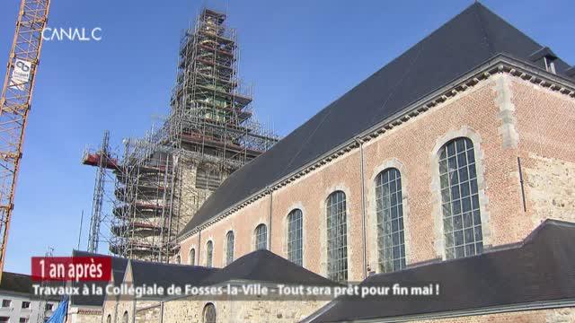 La collégiale Saint Feuillen ,la rénovation s'achève