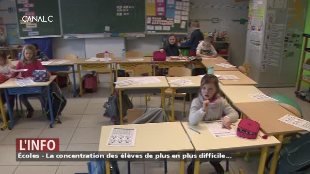 Écoles: la concentration des élèves de plus en plus difficile...