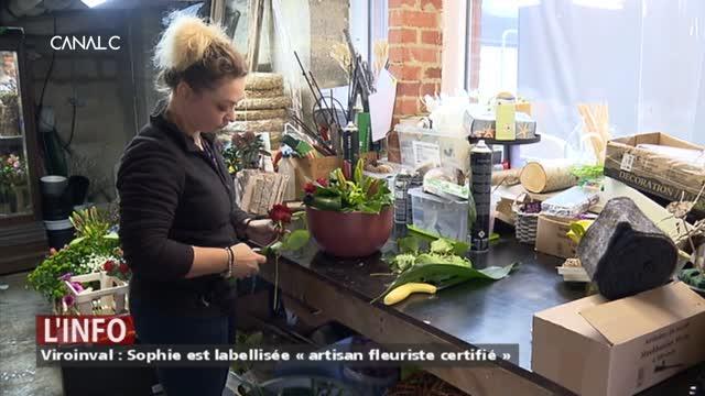 Viroinval : Elle est la 2ème fleuriste de Wallonie labellisée « artisan »