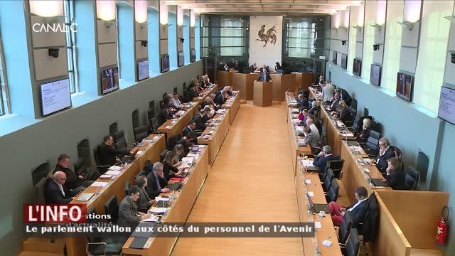 Le parlement wallon indigné par la manière dont se mène la restructuration de l'Avenir