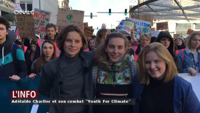 """Environnement: Adélaïde Charlier et son combat """"Youth For Climate"""""""