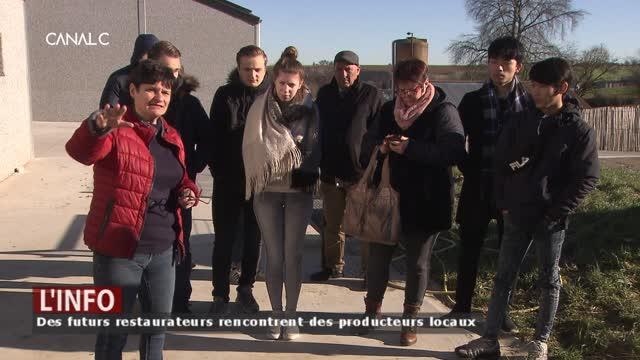 Des futurs restaurateurs partent à la rencontre des producteurs locaux