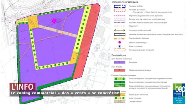 Philippeville - Le projet du futur zoning commercial « des 4 vents » se concrétise