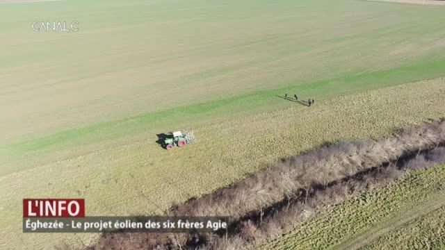 Eghezée: le projet éolien des 6 frères Agie