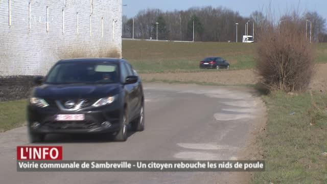 Sambreville - Lassé des nids de poule, un riverain rénove une voirie communale !