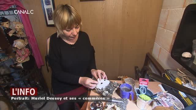 Muriel Dessoy crée des visages fantastiques sur écorces