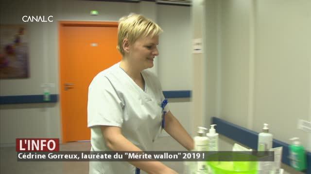 Cédrine Gorreux, lauréate du Mérite wallon 2019 !