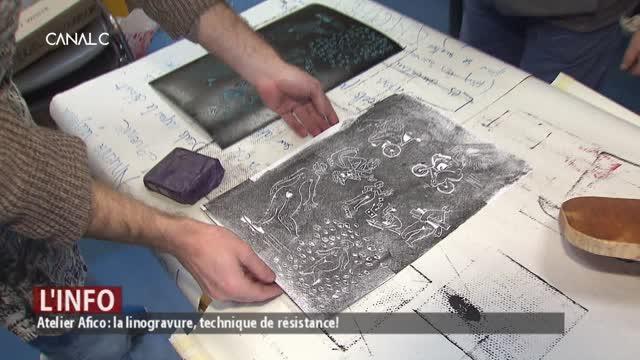 Atelier Afico : la lino gravure, technique de résistance !