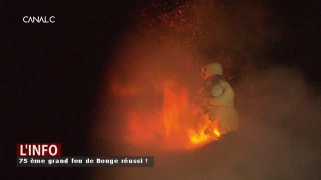 Bouge - Malgré le vent, on a brûlé le bonhomme hiver !