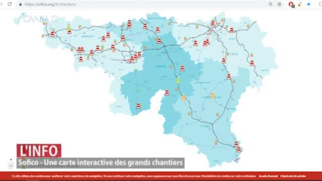 Une carte interactive des grands chantiers de Wallonie