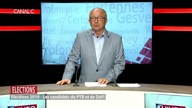 Les candidats du PTB et de DéFi