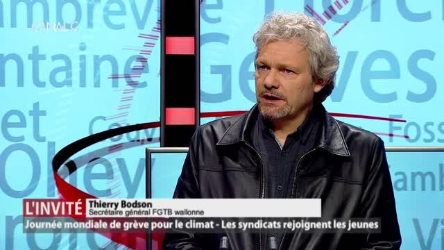 Notre invité: Thierry Bodson, secrétaire général de la FGTB wallonne