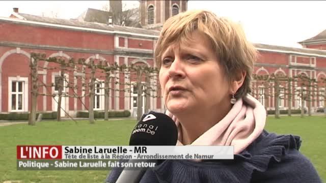 Élections 2019: Sabine Laruelle, tête de liste à la Région (arrondissement de Namur)