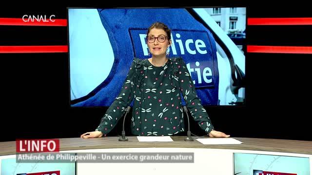 Philippeville - Exercice grandeur nature à l'Athénée