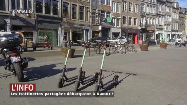 Les trottinettes partagées débarquent à Namur !