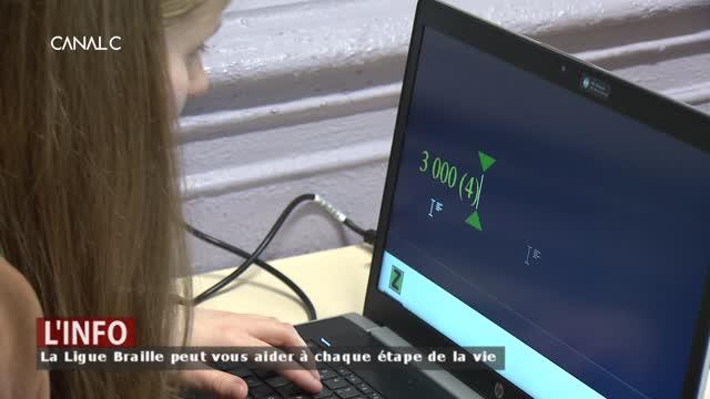 Namur - Ligue Braille: Mathilde, un parfait exemple d'autonomie