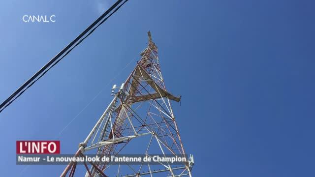 Namur - Le nouveau look de l'antenne de Champion