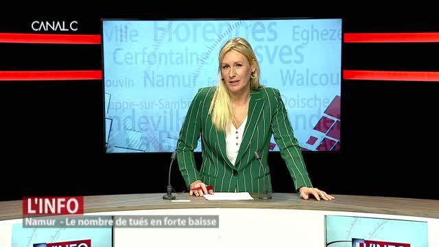 Namur: Le nombre de tués sur les routes en forte baisse