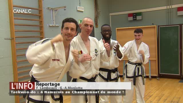 Taekwon-do: Quatre Namurois au Championnat du monde !
