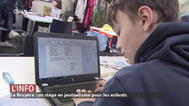 La Bruyère - Un stage en journalisme pour les enfants