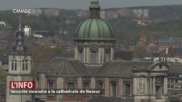 La cathédrale de Namur pourrait-elle brûler comme Notre-Dame de Paris ?
